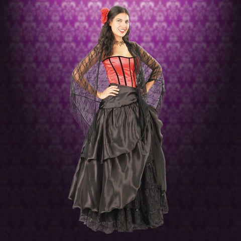 Reversible Black Parlor Skirt - Costumes and Collectibles