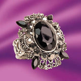 Black Onyx Stretch Ring - costumesandcollectibles