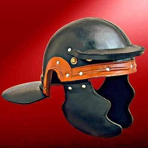 Roman Trooper Leather Helm