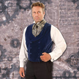 Sapphire Velvet Vest - Costumes and Collectibles