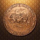 Philip of Spain Embossed Spanish Shield: Copper finish