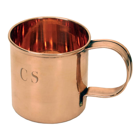Solid Copper CS Soup Mug