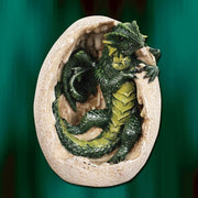 Green Dragon Hatchling and Egg Statue