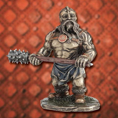 Shorty Viking with Club Statue - Costumes and Collectibles