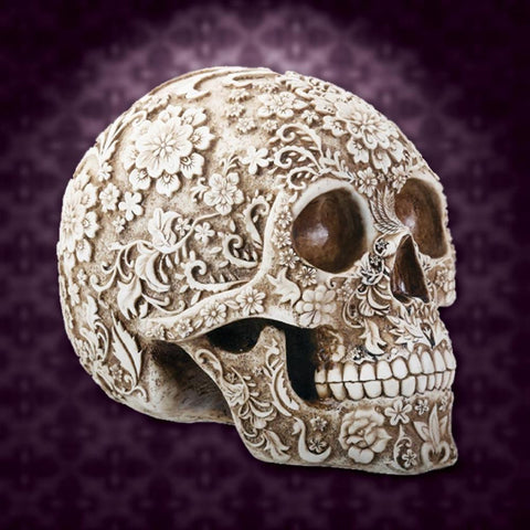 Victorian Floral Skull by Costumes and Collectibles