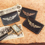 Steampunk Bi-fold Leather Wallets