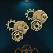 Steampunk Gear Stud Earrings - Costumes and Collectibles