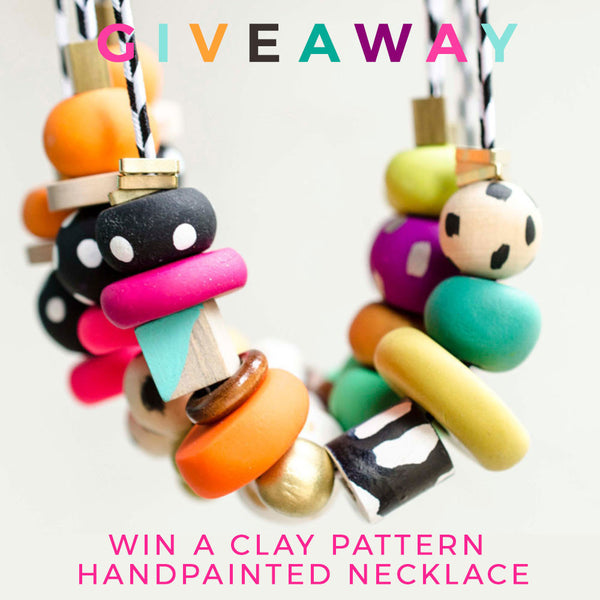 Giveaway blog and buy sale shop clay necklace