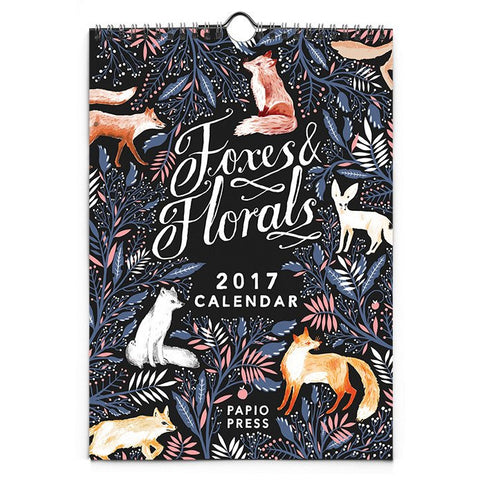 2017 FOXES & FLORALS MINI CALENDAR | Papio Press