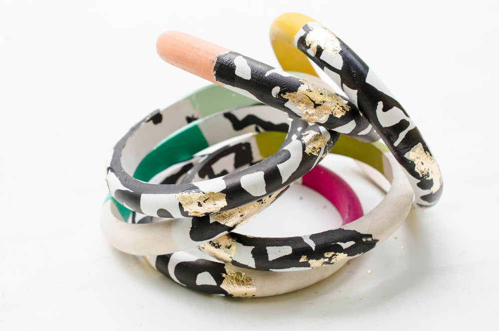 INK BLOT HANDPAINTED BRACELET - Blog And Buy Sale Shop