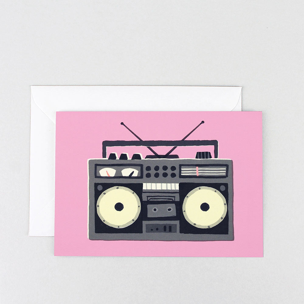 BOOM BOX GREETINGS CARD | Wrap Magazine | Blog And Buy Sale Shop