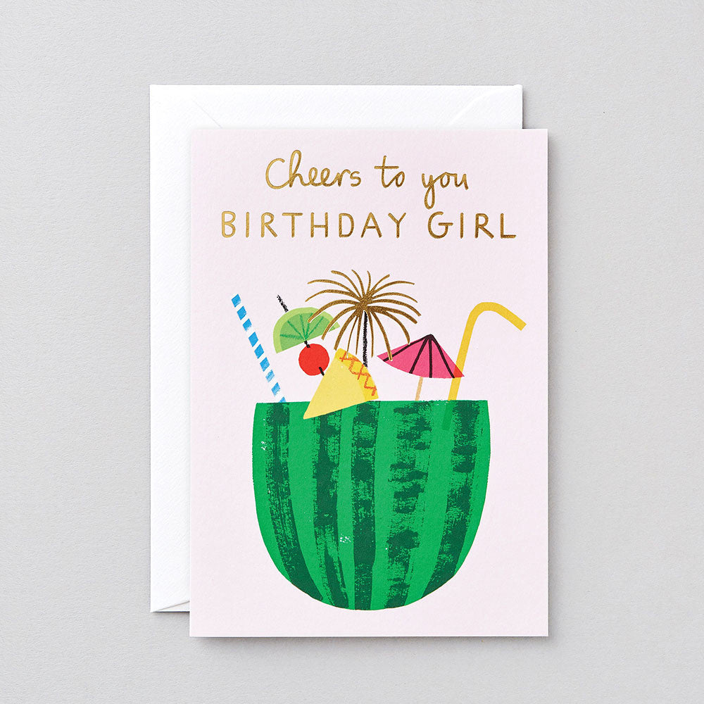 BIRTHDAY GIRL FOILED GREETINGS CARD | Wrap Magazine | Blog And Buy Sale Shop