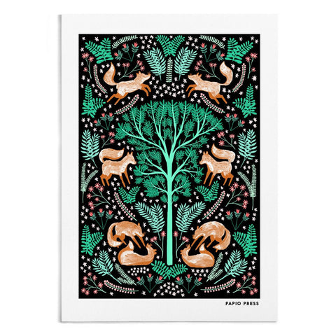 FOLK FOXES - A4 ARTISTS PRINT