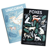 NATURAL HISTORY FOXES & UNICORNS A6 POCKET NOTEBOOKS | Papio press