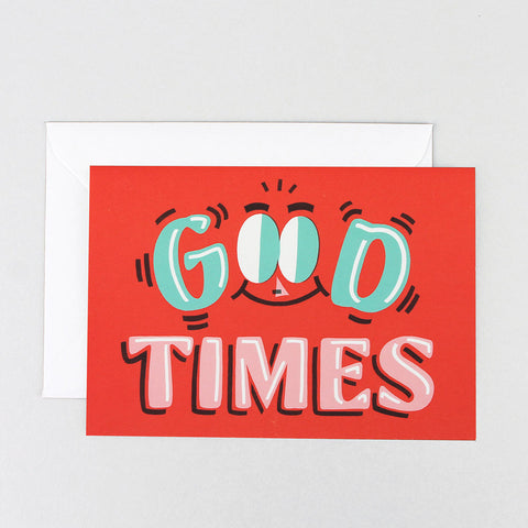 GOOD TIMES GREETINGS CARD | Wrap Magazine | Blog And Buy Sale Shop