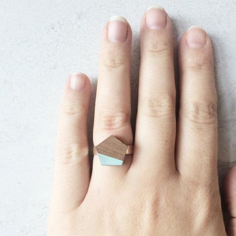 MINT WOODEN PENTAGON RING | Blog And Buy Sale Shop | Fawn & Rose