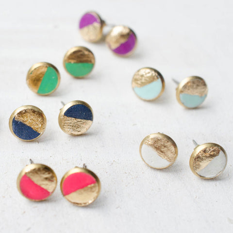 COLOUR BLOCKED EARRING STUDS - Blog And Buy Sale Shop