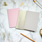 SET OF 3 PASTEL & METALLIC NOTEBOOKS | Sparrow + Wolf | Blog And Buy Sale Shop