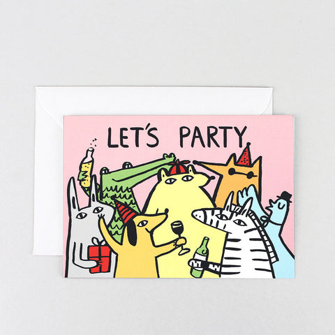 LET'S PARTY GREETINGS CARD | Wrap Magazine | BlogAndBuySale Shop