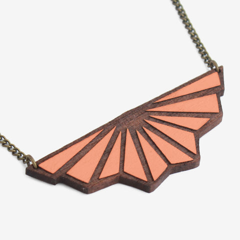 SALMON TOILE DE FOND NECKLACE - Blog And Buy Sale Shop