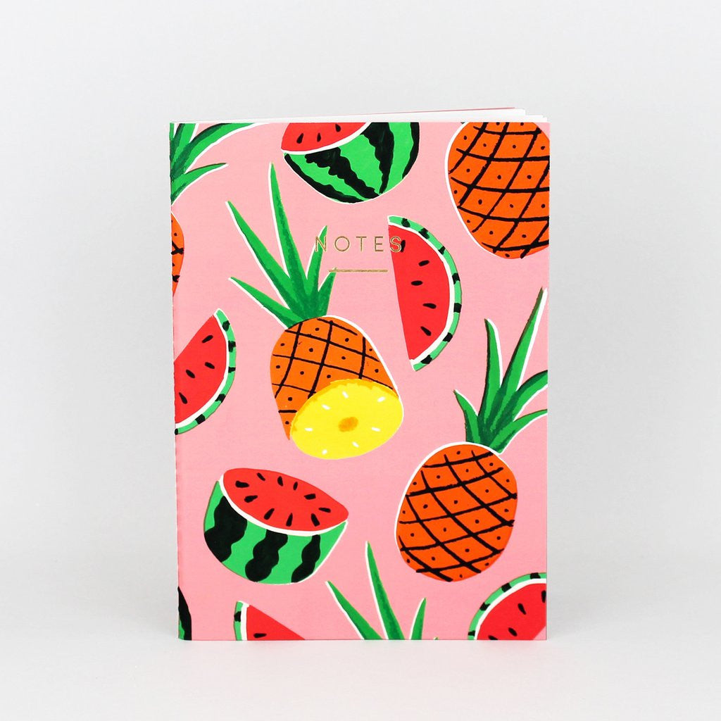 PINEAPPLES AND WATERMELONS NOTEBOOK - WRAP - RUBY TAYLOR
