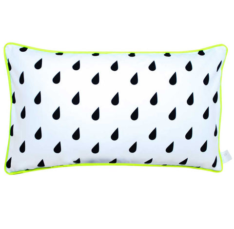 RAINDROPS BLACK AND WHITE CUSHION | Blog And Buy Sale Shop | Sparrow + Wolf