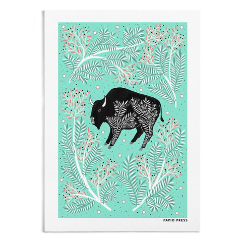 SCANDINAVIAN BISON - A4 ARTISTS PRINT | Papio press | Blog And Buy Sale Shop