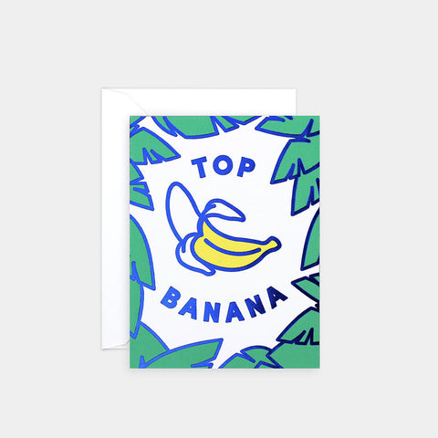 TOP BANANA - FOIL-BLOCKED MINI CARD | Wrap magazine | Blog And Buy Sale Shop
