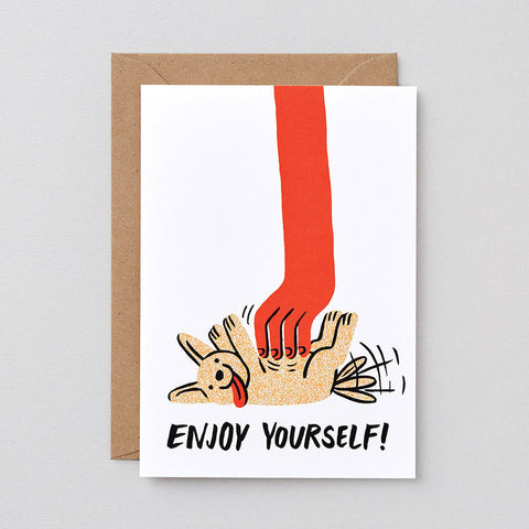 ENJOY YOURSELF GREETINGS CARD | Wrap Magazine | Blog And Buy Sale Shop