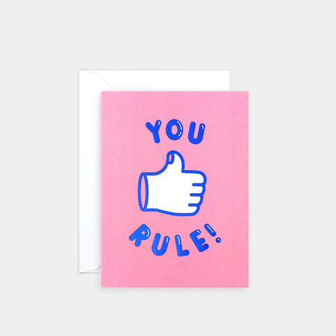 You Rule Greetings Card | Wrap Magazine | Blog And Buy Sale Shop