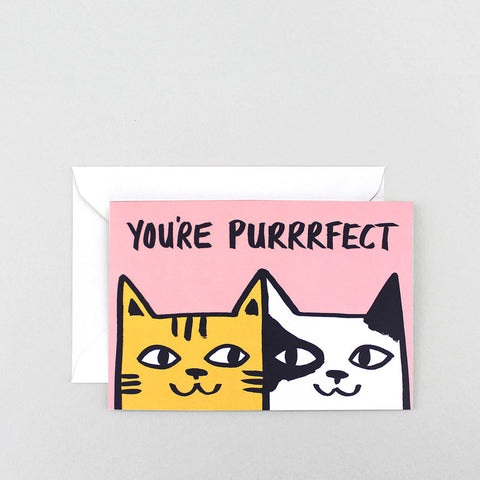 YOU'RE PURRRFECT GREETINGS CARD | Wrap Magazine | BlogAndBuySale Shop