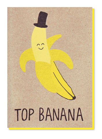 TOP BANANA GREETINGS CARD