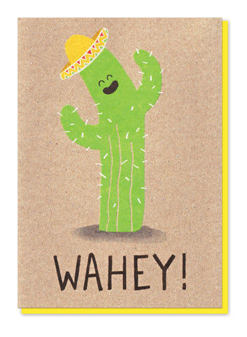 WAHEY CACTUS GREETINGS CARD - Stormy Knight - Blog And Buy Sale Shop