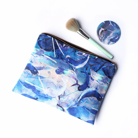 OCEAN NARWHALS FABRIC TRAVEL BAG | Nikki Strange | Blog and buy sale shop