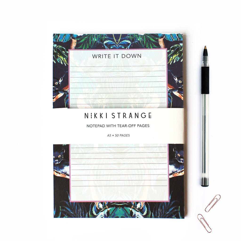 NOCTURNAL JUNGLE A5 NOTEPAD