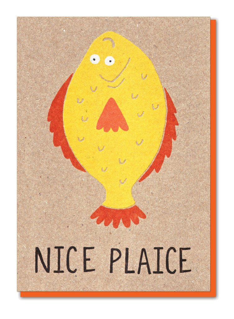 NICE PLAICE GREETINGS CARD - Stormy Knight - Blog And Buy Sale