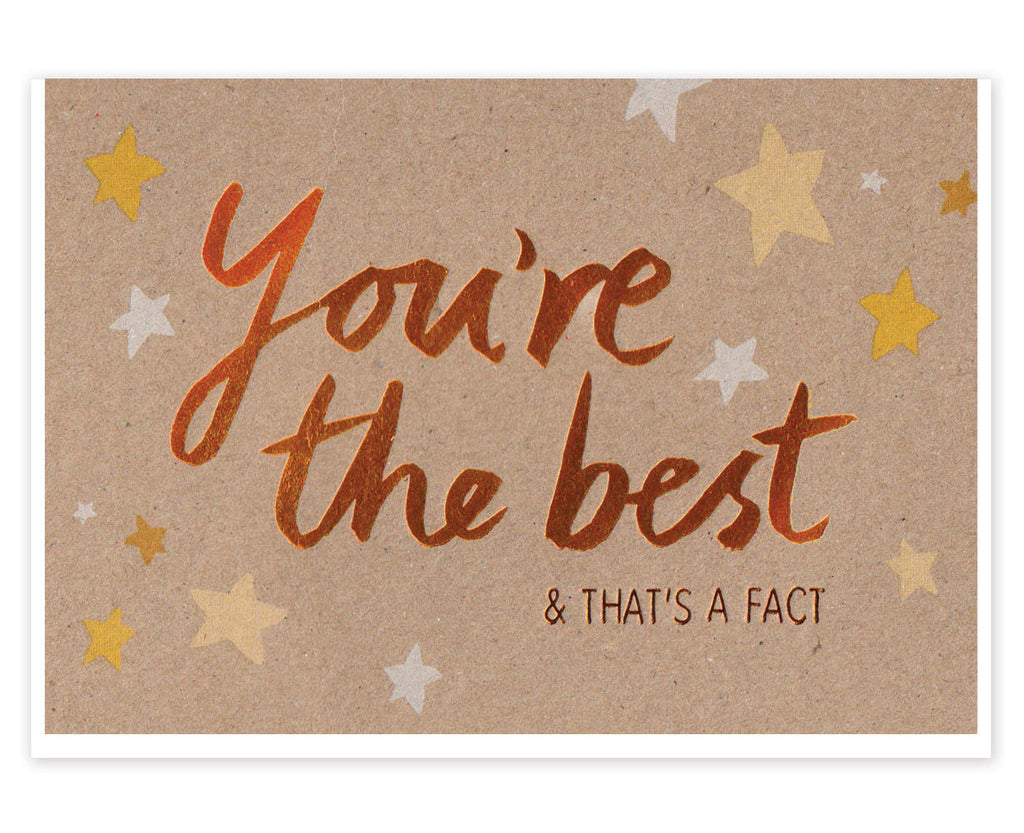 YOU'RE THE BEST COPPER CARD - Stormy Knight - Blog And Buy Sale Shop