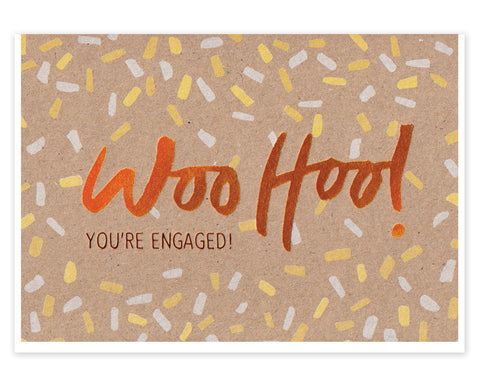 WOO HOO COPPER ENGAGEMENT GREETINGS CARD
