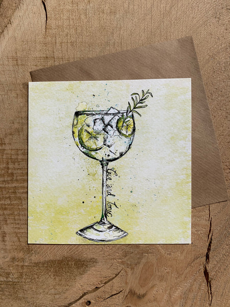 Pack of 5 Greeting Cards - Booze