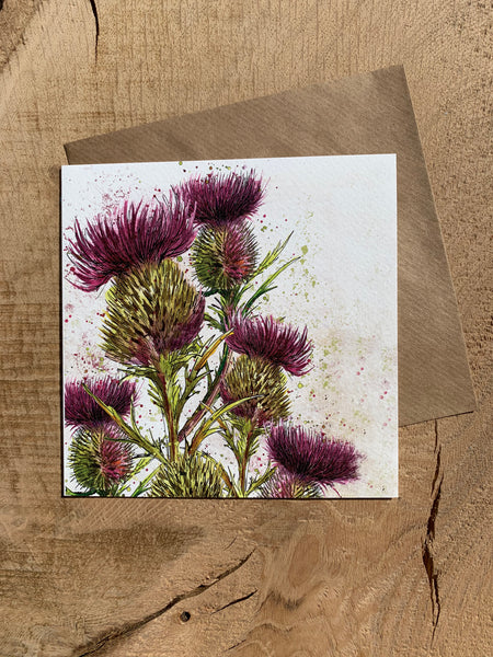 Pack of 5 Greeting Cards - Vegetables (and a thistle!)