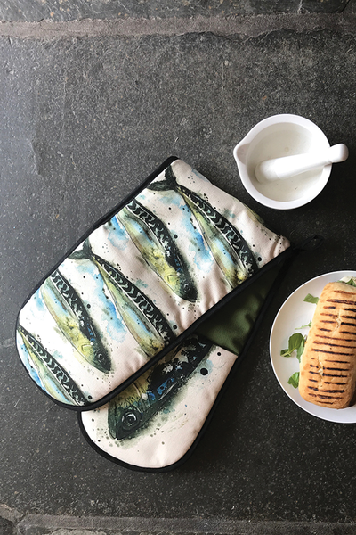 Mackerel Oven Glove