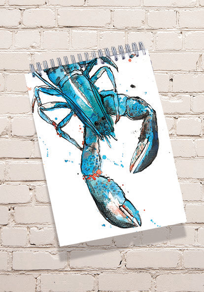 Blue lobster Notepad