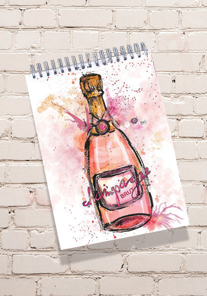 Champagne Notepad