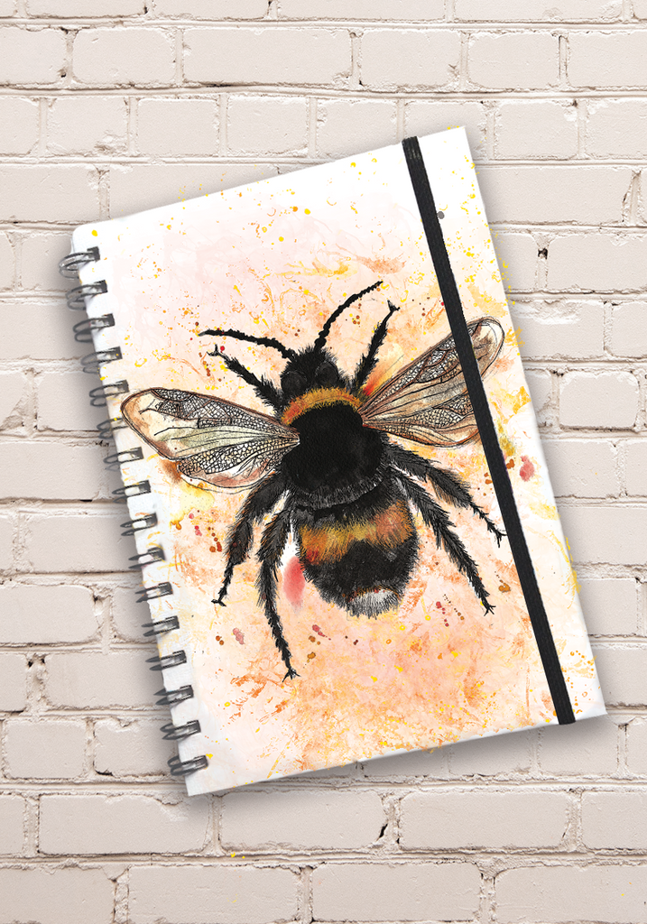 A5 Bee Hardback Spiral Bound Notebook