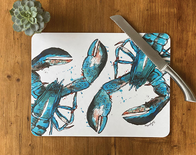 Large Blue Lobster Centre Table Mat