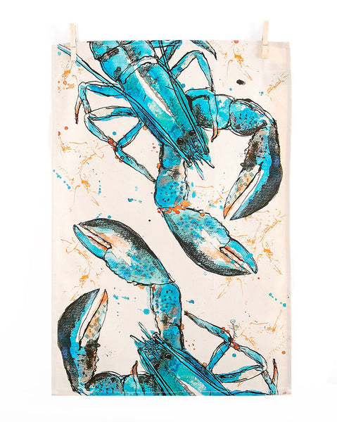 Blue Lobster Tea Towel