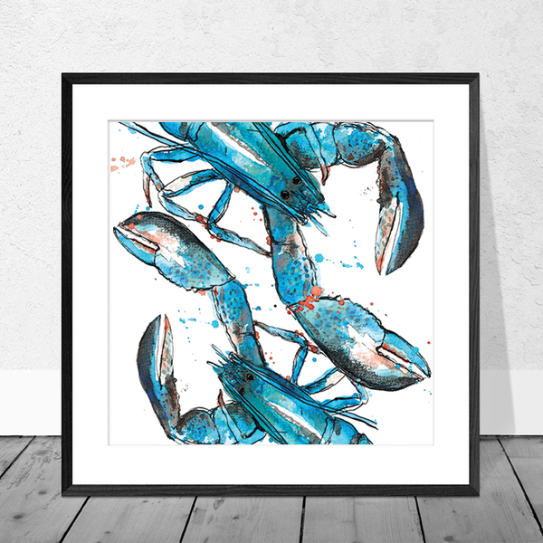 Blue Lobster Art Print