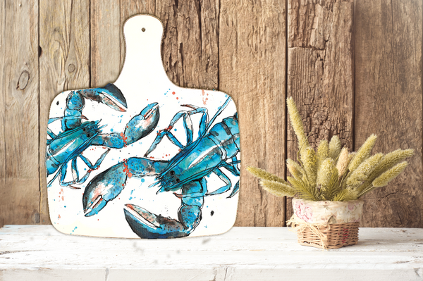 Large Blue Lobster Chopping Board