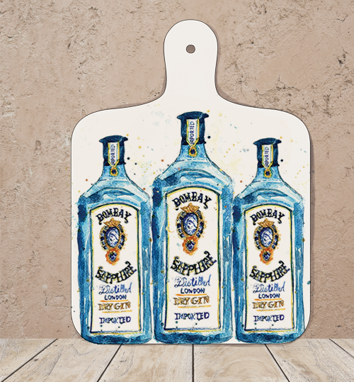 Small Bombay Gin Chopping Board