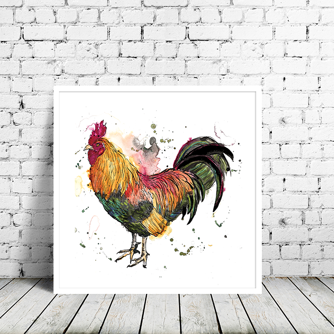 Cockerel Art Print
